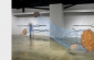 Husk   2011.  Steel, wood, paint.  23 x 7 x 3ft.  Center Galleries, Detroit.